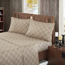 160 Thread Count 100% Cotton Inverness Angle Flannel Sheet Set