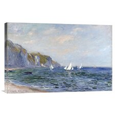 'Cliffs and Sailboats at Pourville' by Claude Monet Painting Print on Canvas