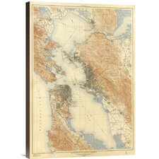 'San Francisco and Vicinity, California, 1915' by U.S. Geological Survey Graphic Art on Canvas