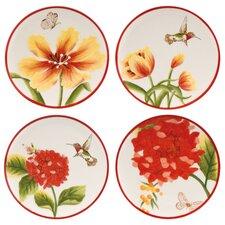 """Flower Market 5.75"""" Snack Plate (Set of 4)"""