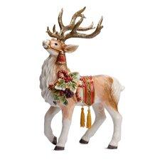 Regal Holiday Deer Figurine