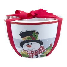 Holly Berry Snowman 3 Piece Nested Bowl Set