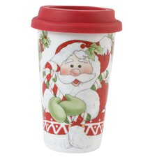 Candy Cane Santa Travel Mug