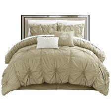 Halpert Floral Pinch 6 Piece Comforter Set