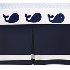 Connor Navy Solid Dust Ruffle