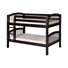 Low Bunk Bed with Arch Spindle Headboard