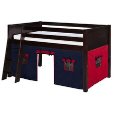 Low Loft Bed with Playhouse