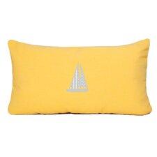Sailboat Beach Outdoor Sunbrella Lumbar Pillow