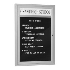 Marquee Wall Mounted Letter Board, 3' x 2'