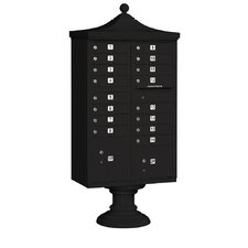 Regency 16 Door Decorative CBU Mailbox for USPS Access