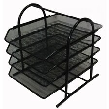 Mesh 4 Tier Letter Tray