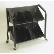 2 Shelf Sloped Book Cart