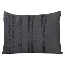 Pom Pom Interrupted Lines Cotton Lumbar Pillow