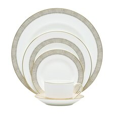 Gilded Weave 5 Piece Place Setting
