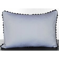 Pom Pom Satin Pleated Cotton Lumbar Pillow