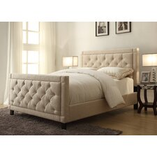 Nusilk Oyster Upholstered Panel Bed