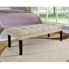 Upholstered Tufted Bedroom Bench