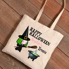 Personalized Halloween Trick-or-Treat Witches Potion Canvas Bag