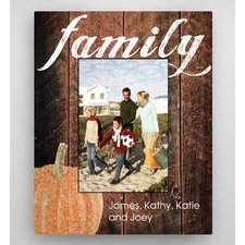Personalized Family Pumpkin Fall Picture Frame