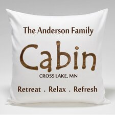 Personalized Cabin Retreat.Relax.Refresh Throw Pillow