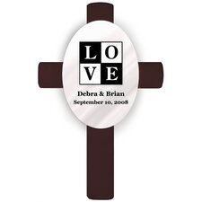 Personalized Gift Oval Wedding Cross Love Wall Décor