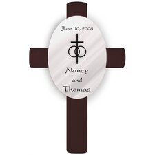 Personalized Gift Oval Wedding Cross Classic Wall Décor