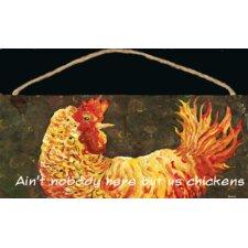 Chicken Sign Wall Decor