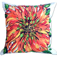 Blossom Cotton Throw Pillow
