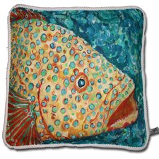 Spotted Grouper Indoor/Outdoor Throw Pillow