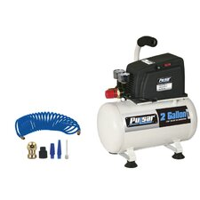 2 Gallon Air Compressor with Accessories with 6 Piece Accessory Kit