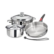 Nestable Induction Cook-Top 7 Piece Cookware Set