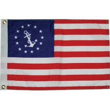 Dyed U.S. Yacht Ensign Traditional Flag