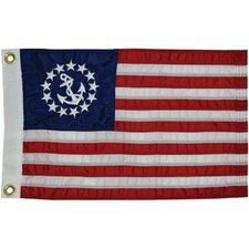 Sewn U.S. Yacht Traditional Flag