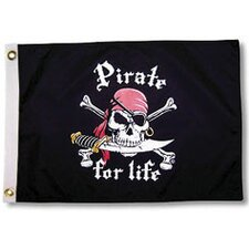 Pirate Heads 'Pirate for Life' Traditional Flag