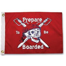 Pirate Heads 'Prepare to be Boarded' Traditional Flag