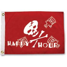 Pirate Heads 'Happy Hour' Traditional Flag