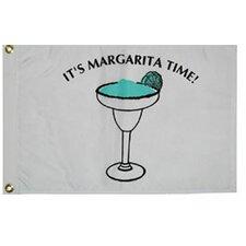 Novelty Design 'It's Margarita Time' Traditional Flag