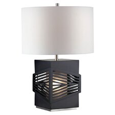 "Redact 23.25"" H Table Lamp with Drum Shade"