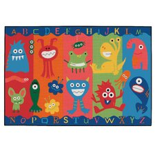 Alphabet Monsters Kids Area Rug