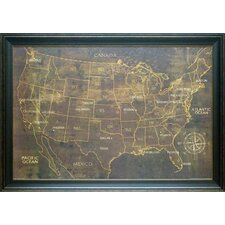 'The United States' by Luke Wilson Framed Graphic Art