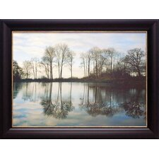 'Frozen Reflections' by Derek Harris Framed Painting Print