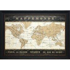 'Mappemonde' by Pela Studio Framed Graphic Art