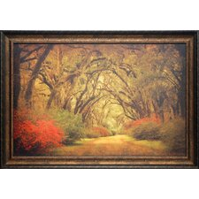 'Road Lined with Oaks and Flowers' by William Guion Framed Photographic Print