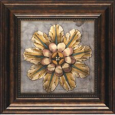 'Custom Rosette Damask III' by Jennifer Goldberger Framed Graphic Art