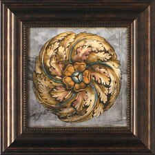 'Custom Rosette Damask IV' by Jennifer Goldberger Framed Graphic Art
