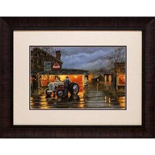 'Shop Talk' by Dave Barnhouse Framed Painting Print