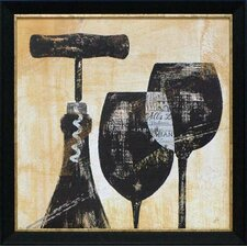 'Wine Selection II' by Daphne Brissonnet Framed Painting Print
