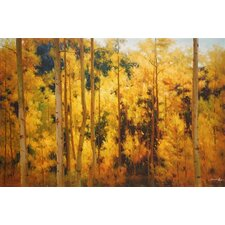 'Autumn Radiance' by Robert Barnes Painting Print on Wrapped Canvas