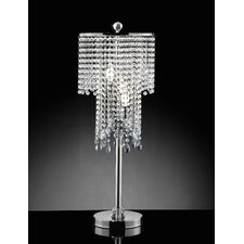 "Rain Crystal 31.5"" H Table Lamp with Drum Shade"