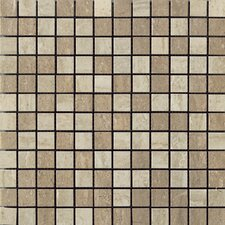 Travertini Porcelain Mosaic Tile in Cream